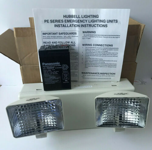 NEW Hubbell Wall Mounted Commercial Emergency Light Pathfinder HE Series