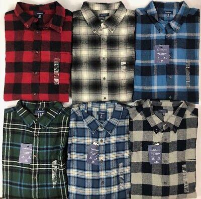Men's Croft & Barrow Big & Tall True Comfort Button Front Flannel Shirt Big Tall Flannel Shirts
