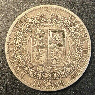1888 British Half Crown silver UK Great Britain MP159