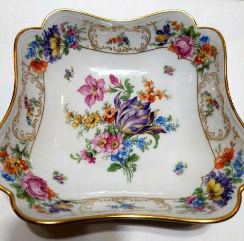 P T TRISCHENREITH BAVARIA SERVING BOWL, Floral Dresden Decoration 4326 Schumann