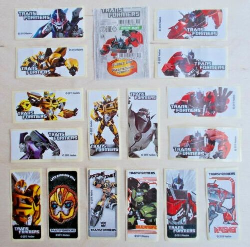 Full Set TRANSFORMERS Stickers Bubble Gum Inserts Wrappers 16 pcs + 1wrapper