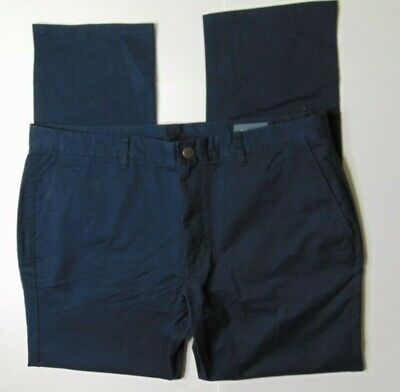 Bonobos Men 40 x 32 Washed Chinos Pants Slim Fit Straight Blue Business Casual