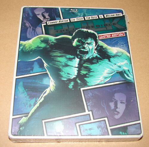 New! The Incredible Hulk (2013) Limited Edition Steelbook Case (blu-ray + Dvd)