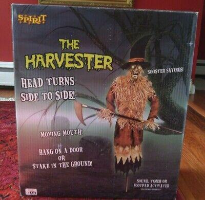 Spirit Halloween 2011 The Harvester Animatronic W/ Box OPENED ONCE VERY RARE