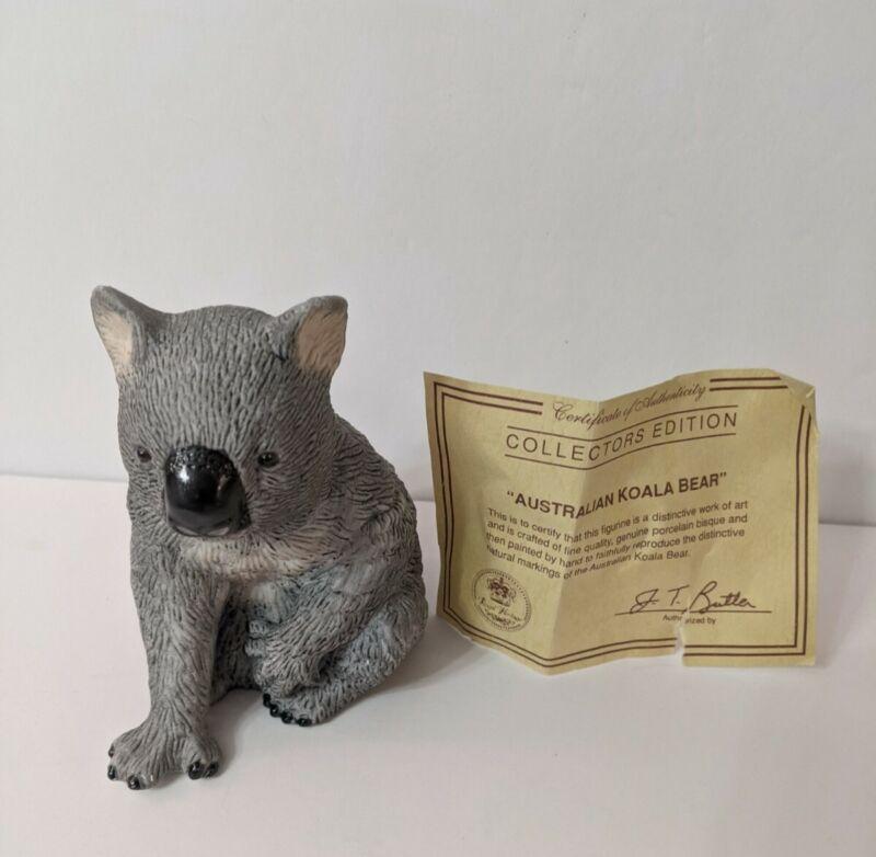 Australian Bisque Porcelain Koala Bear Figurine Collectors Edition