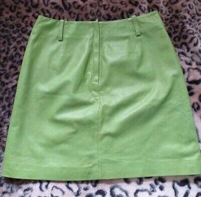 JEREMY SCOTT light green leather mini skirt, size 8