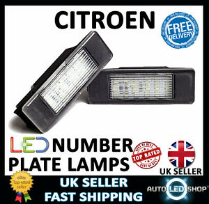 citroen ds3 18 led white number plate light lamp upgrade bulbs xenon ebay. Black Bedroom Furniture Sets. Home Design Ideas