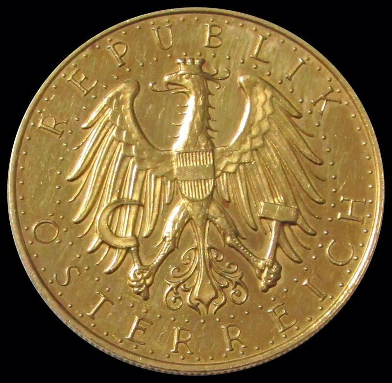 1926 GOLD AUSTRIA 100 SHILLING COIN AU