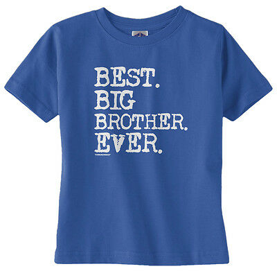 Threadrock Baby Boys Best Big Brother Ever Infant T-shirt Sibling Slogan