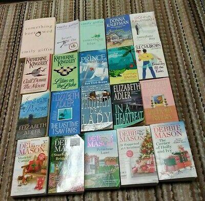DEBBIE MASON,ELIZABETH ADLER,EMILY GIFFIN,DONNA KAUFFMAN,...lot of 20 paperbacks