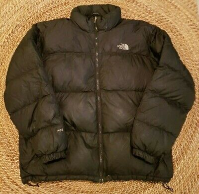 Mens The North Face 700 Series Nuptse Down Puffer Jacket Mens Size X-Large Black