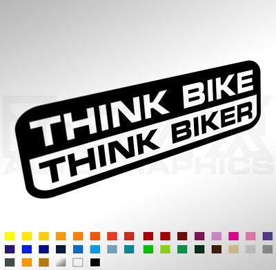 Think Bike Think Biker Sticker Decal For Car Van Window Bumper - Raise Awareness