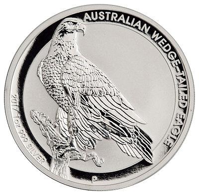 2017 P Australia  1 1 Oz  Silver Wedge Tailed Eagle Original Mint Cap Sku44908