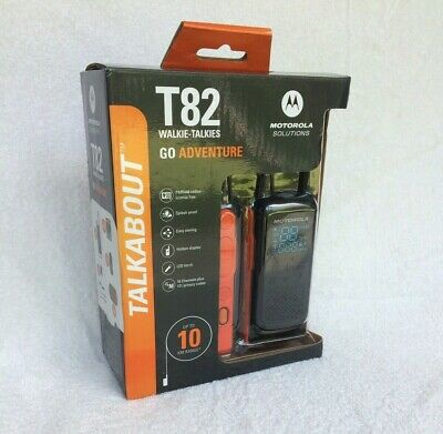Motorola T82 Walkie Talkies Twin Pack