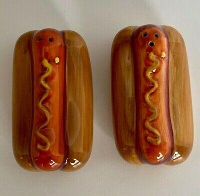 Ceramic Hot Dog Salt & Pepper Shaker Set