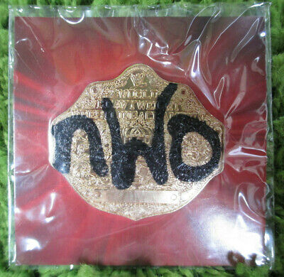 NWO TAGGED WCW WORLD CHAMPIONSHIP ~ WWE SLAM CRATE TITLE BELT PLATE PIN for sale  Shipping to Canada