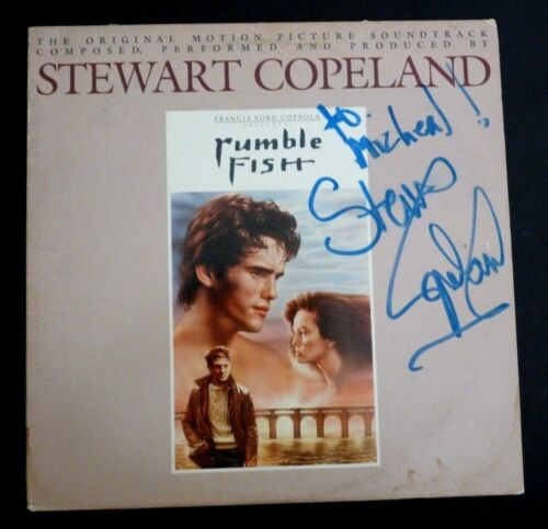 Stewart Copeland Signed Autographed Rumble Fish LP PSA BAS Guaranteed READ