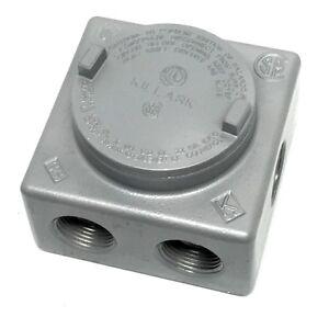Killark GRSS-3 Explosion Proof Junction Box with (7x) 1
