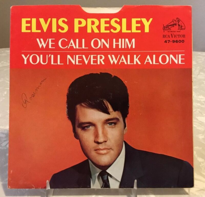 Elvis 47-9600 We Call On Him / You'll Never Walk Alone 45 Sleeve