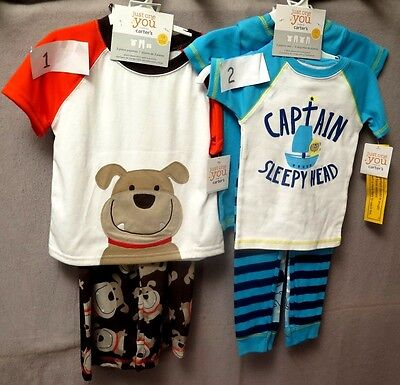 Carters Just One You Boys 3 Or 4 Piece Pajamas Super  Cute Bnwt