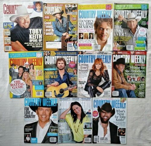 Lot of 11 Country Weekly Magazines 2002 2008 2009 2010 2011 Back Issues Magazine