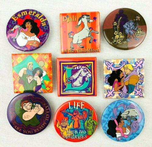 Vintage Disney Hunchback of Notre Dame Pinback Button Movie Lot  Quasimodo  *Lc