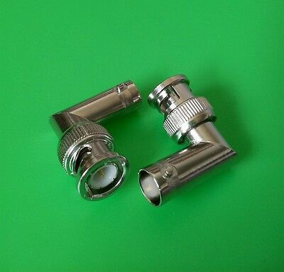 (2 PCS) BNC Male to BNC Female Right Angle Adapter - USA Seller