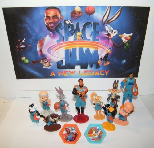 Space Jam A New Legacy Movie Deluxe Figure Set of 12 with 10 Figures and 2 Rings