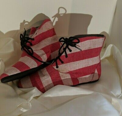 Women's Anthropologie Osborn Handcrafted Red / Pink, Ankle Boots - Sz 7, 38 $147
