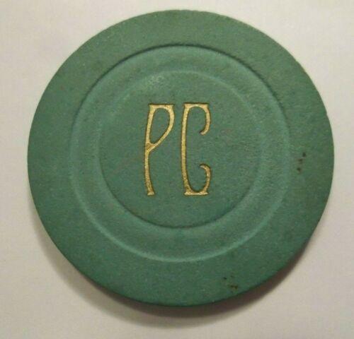 PC 50 Cent Casino Poker Chip Old Gambling
