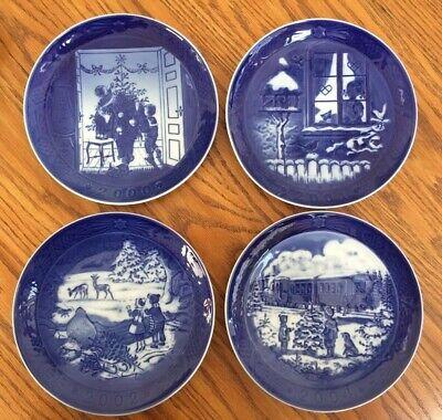 Lot 4 Royal Copenhagen Blue Christmas Plates 2000 2001 2002 2004 Denmark Lovely