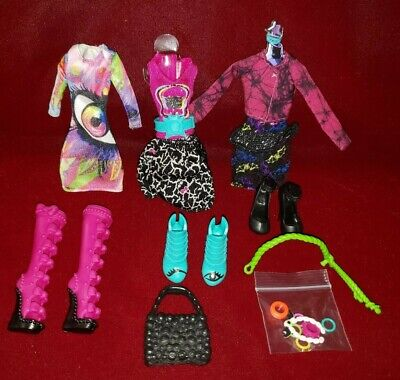 New Monster High Doll Clothes Iris Clops 3 Outfits Dress Boots Shoes Toys R Us