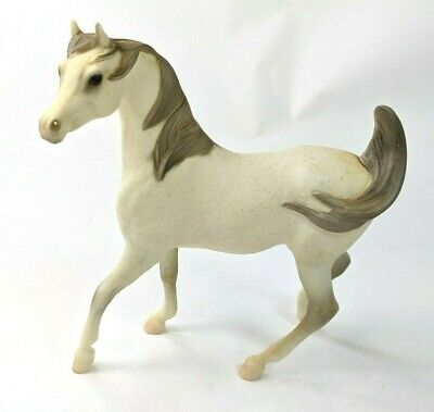 Vintage Breyer Horse Prancing White Arabian Stallion White, Grey Mane #411