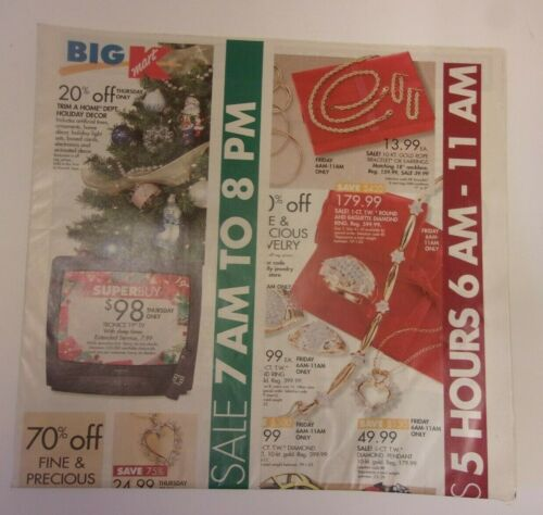 Kmart store sales ad: Thanksgiving and Black Friday 2000, old school tech & more