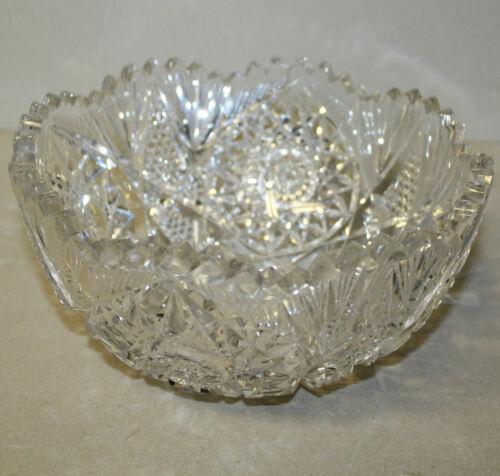 Antique Brilliant Period Cut Glass Bowl – Libbey
