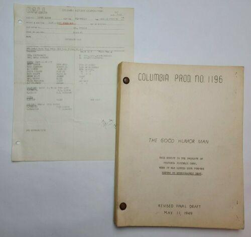 THE GOOD HUMOR MAN / Frank Tashlin 1949 Screenplay, Jack Carson & Lola Albright