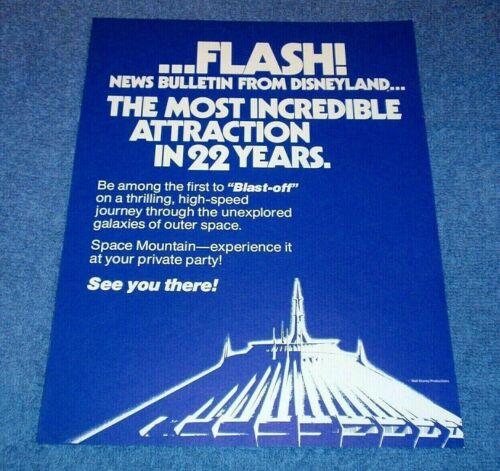 1977 DISNEYLAND FLASH NEWS BULLETIN - BLAST OFF SPACE MOUNTAIN EXPERIENCE IT!