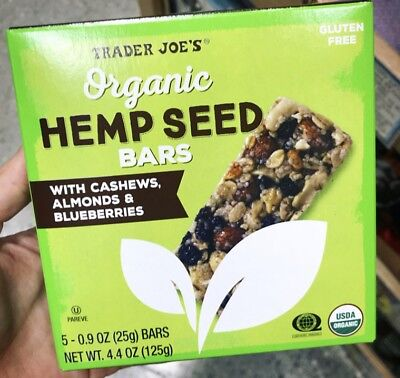 Trader Joe's Organic Hemp Seed Bars (w/cashews, almonds & blueberries