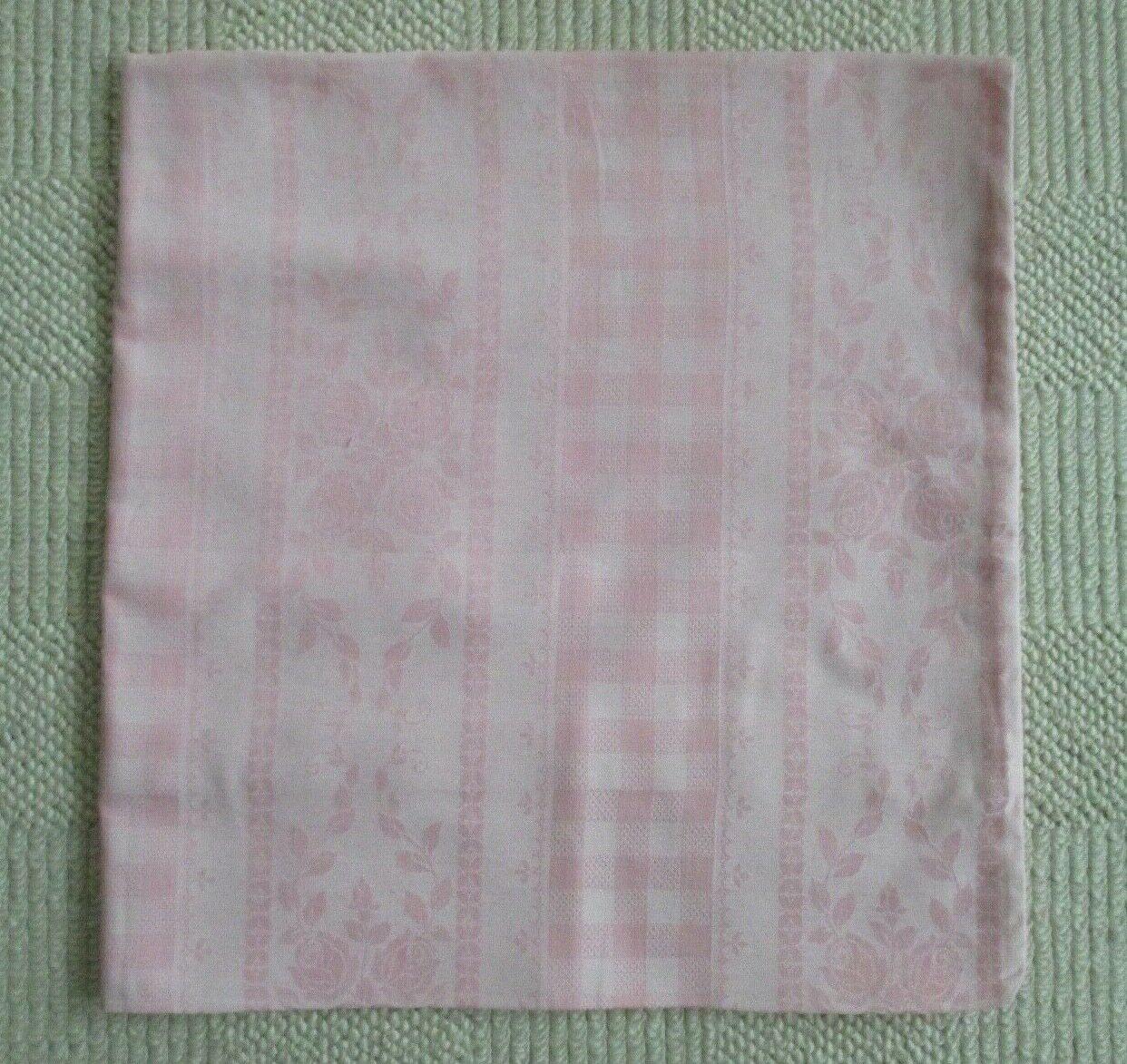 Nostalgischer rosa Kissenbezug 100 % BW Babybett Kinderwagen ca. 80x80 cm