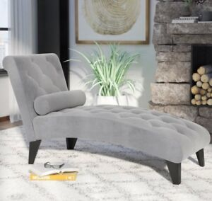 New grey chaise lounger