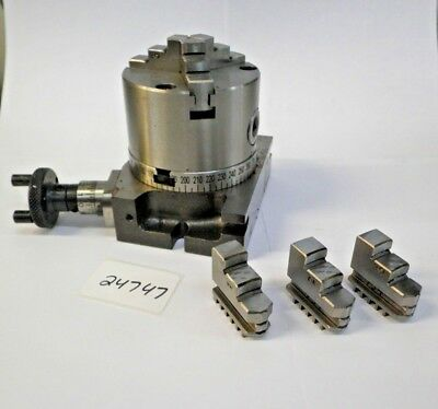 3 Rotary Table W 3 Jaw Chuck New Pic24747