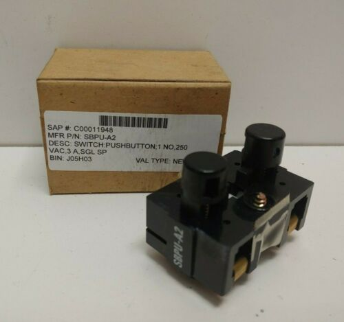NEW OLD STOCK! MAGNETEK 3A 250V N.O. PUSHBUTTON SWITCH SBPU-A2