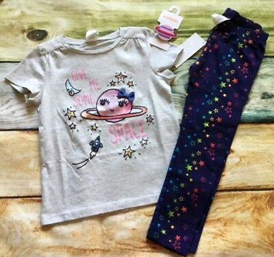 Gymboree Cosmic Club 3T 4T 5T Give Me Some Space Planet Top Star Leggings NWT