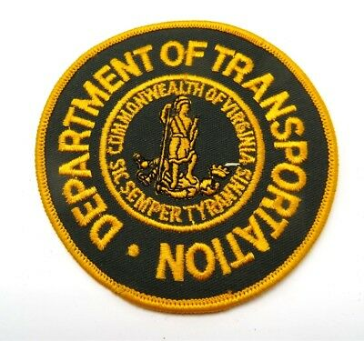 """Virginia Department of Transportation Embroidered Jacket Patch 4"""""""
