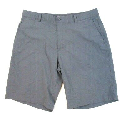 Nike Walking Shorts (Nike Golf Dri Fit Walking Shorts Gray Striped Size 36 Flat Front Casual Men CB9Q)