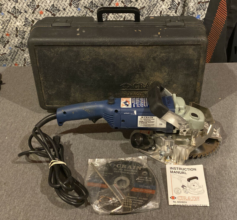 Crain No. 825 Heavy-Duty Undercut Saw w/ Case