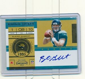 2011 PLAYOFF CONTENDERS BLAINE GABBERT ON CARD AUTO RC #212