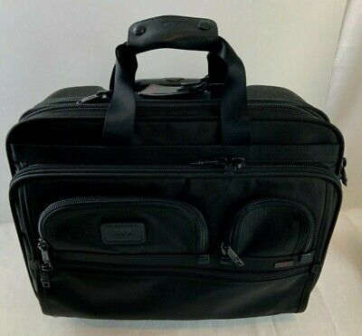 Tumi Laptop Briefcase Travel Bag Wheeled Rolling Plus removable lap top bag - Wheeled Laptop-tasche