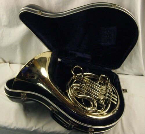 C. G. CONN LTD USA PROFESSIONAL 8D DOUBLE FRENCH HORN NICKEL SILVER