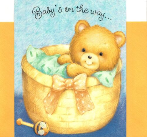 Congratulations New Baby Boy or Girl Brown Bear Hugs Hallmark Greeting Card